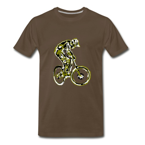 MTB Shirt - Downhill Rider - Men's Premium T-Shirt