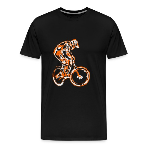 Mountain Bike T-shirt - Downhill Rider - Men's Premium T-Shirt