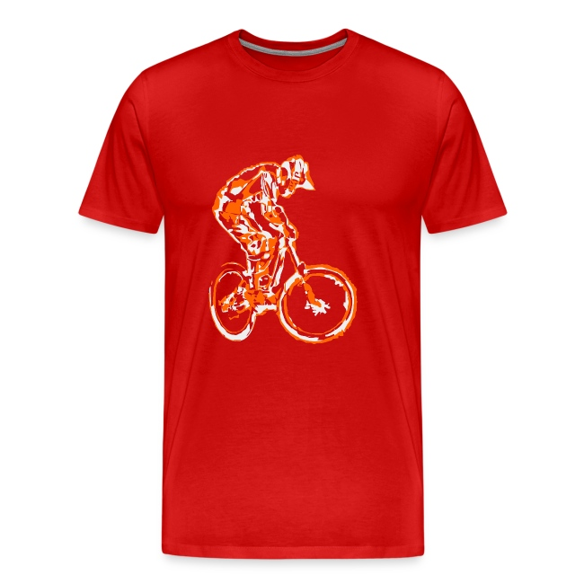 Mountain Bike T-shirt - Downhill Rider