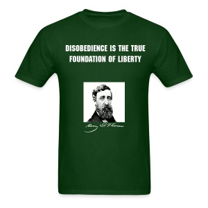 Men's Thoreau - Disobedience - Men's T-Shirt