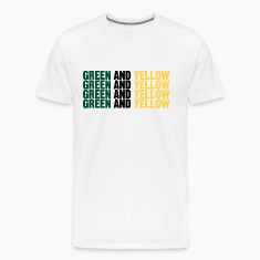 "Men's t-shirt ""Green and Yellow 4 times"" 