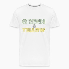 "Men's t-shirt ""Green and Yellow"" 