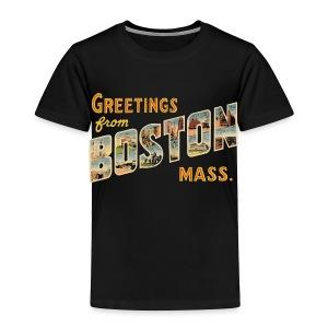 Boston Postcard Toddler Tee - Toddler Premium T-Shirt