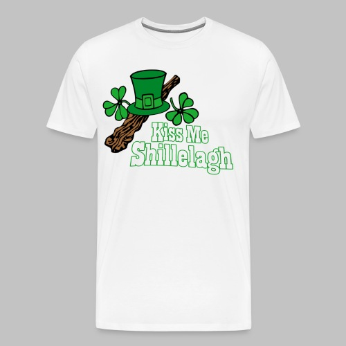 Kiss Me Shillelagh - Men's Premium T-Shirt