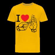 T-Shirts ~ Men's Premium T-Shirt ~ i love fucking T-Shirt (color)
