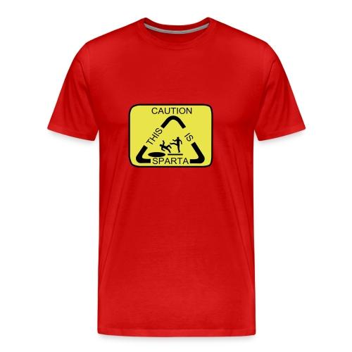 Caution this is Sparta - Men's Premium T-Shirt