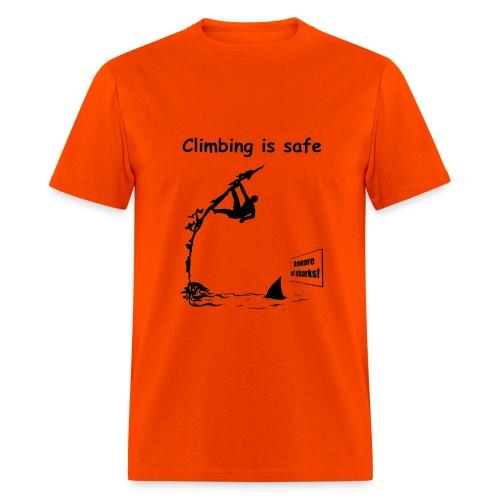 Climbing T-shirt - Deep Water Solo - Orange - Men's T-Shirt