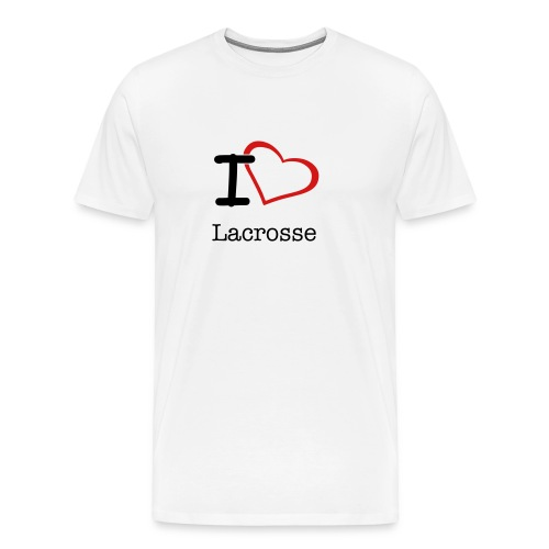 I love lacrosse - Men's Premium T-Shirt