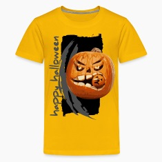 Yellow halloween pumpkin Kids' Shirts