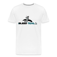 T-Shirts ~ Men's Premium T-Shirt ~ Bleed Teal Patty Men's White T-Shirt