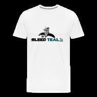 T-Shirts ~ Men's Premium T-Shirt ~ Bleed Teal Patty Men's White T-Shirt