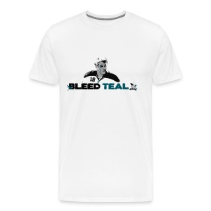 Bleed Teal Patty Men's White T-Shirt - Men's Premium T-Shirt