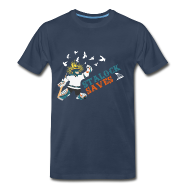 T-Shirts ~ Men's Premium T-Shirt ~ Stalock Saves Men's Navy T-Shirt