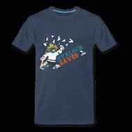 T-Shirts ~ Men's Premium T-Shirt ~ Stalock Saves Men's Navy T-Shirt