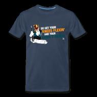 T-Shirts ~ Men's Premium T-Shirt ~ Niemi T-Rexin Men's Navy T-Shirt
