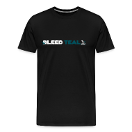 T-Shirts ~ Men's Premium T-Shirt ~ Bleed Teal Men's Black T-Shirt