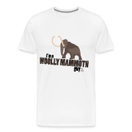 T-Shirts ~ Men's Premium T-Shirt ~ Wooly Mammoth Guy Men's White T-Shirt