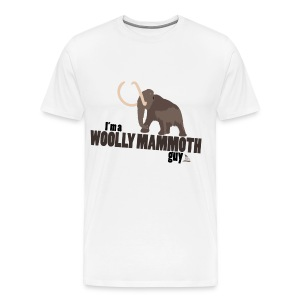 Wooly Mammoth Guy Men's White T-Shirt - Men's Premium T-Shirt