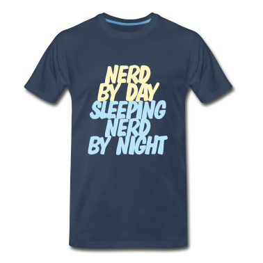 Nerd by day, sleeping nerd by night T-shirt