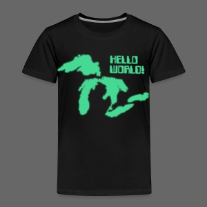 Hello World Toddler T-Shirt - Toddler Premium T-Shirt
