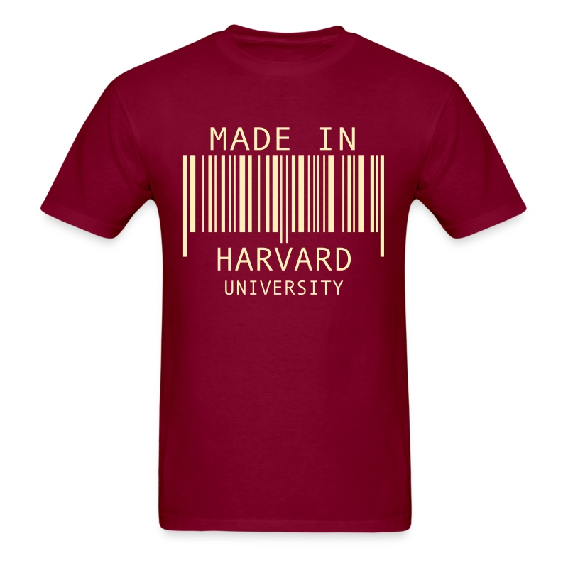 Made in harvard university t shirt spreadshirt for University t shirts with your name