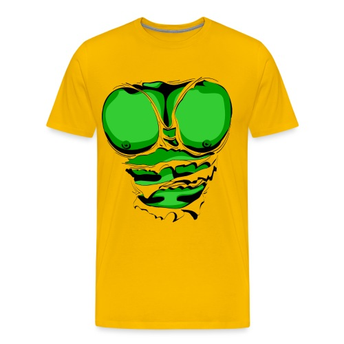 Ripped Muscles Green, six pack, chest T-shirt - Men's Premium T-Shirt