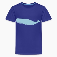 Royal blue Whale Kids' Shirts