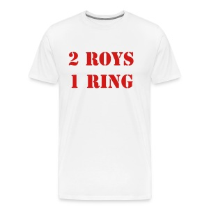 2 Roys, 1 Ring (White) - Men's Premium T-Shirt