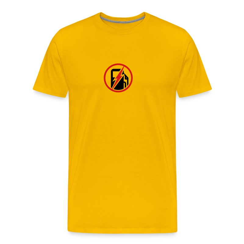 Men's 100% Electric Yellow - Men's Premium T-Shirt