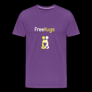 Purple Free Hugs People T-Shirts