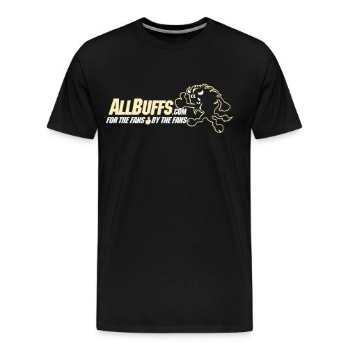 Allbuffs Logo Front, Got Stoudt? Uppper Back - Men's Premium T-Shirt