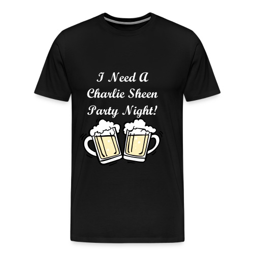Charlie Sheen Party Night - Men's Premium T-Shirt