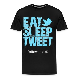 follow me @....... - Men's Premium T-Shirt