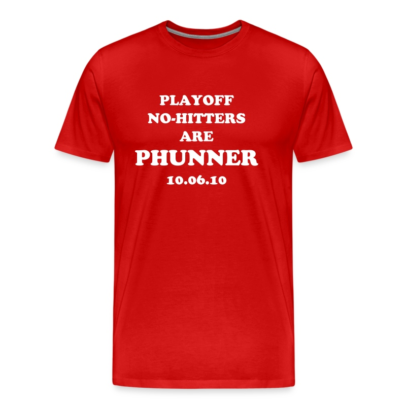 Playoff No-Hitters are Phunner - Men's Premium T-Shirt
