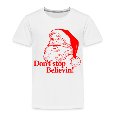 Santa Christmas Believe Toddler Shirts