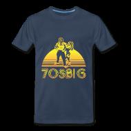 T-Shirts ~ Men's Premium T-Shirt ~ Throwback - Navy - Regular