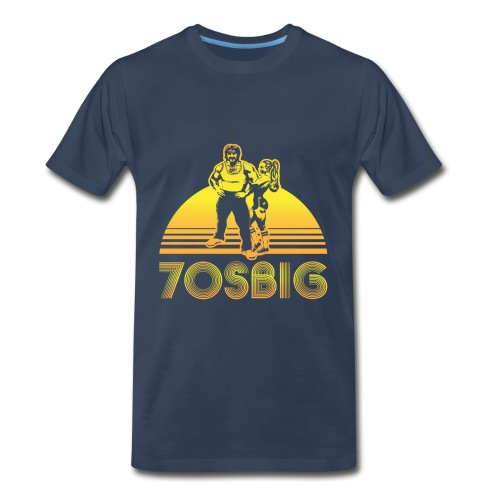 Throwback - Navy - Regular - Men's Premium T-Shirt