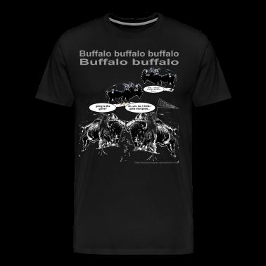 Buffalo buffalo buffalo - for black shirt only