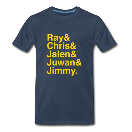 Michigan Fab Five - 3XL - Men's Premium T-Shirt