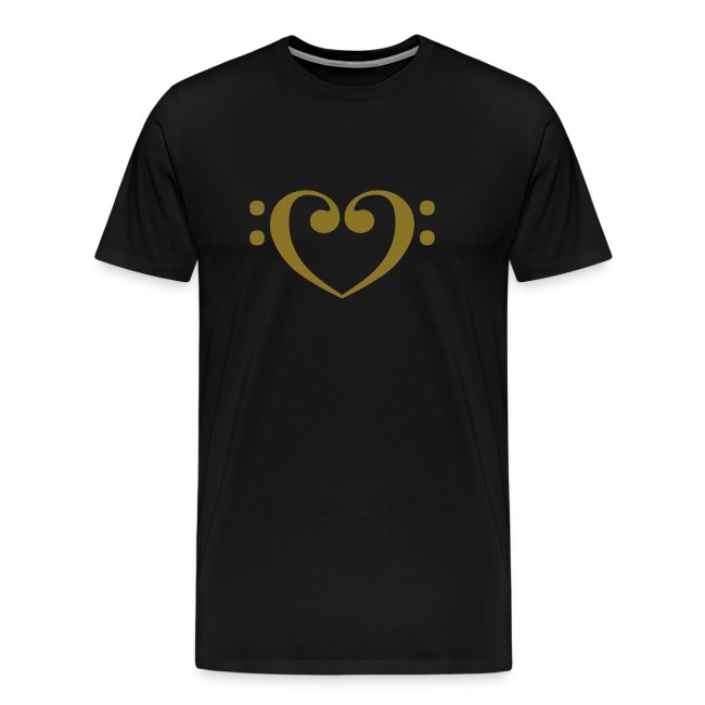 Bass Clef Gold Heart