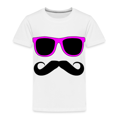 Mustache Glasses Humor Toddler Shirts