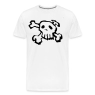 T-Shirts ~ Men's Premium T-Shirt ~ Black Skull and Cross bones tee shirt
