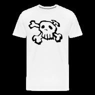 T-Shirts ~ Men's Premium T-Shirt ~ Black Skull and Cross bones tee shirt