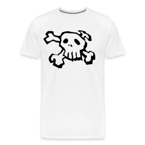 Black Skull and Cross bones tee shirt - Men's Premium T-Shirt