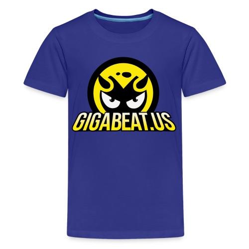 3D GIGABEAT LOGO - Purple Kids - Kids' Premium T-Shirt