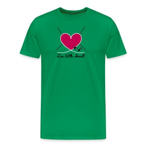 Run With Heart - Men's Premium T-Shirt