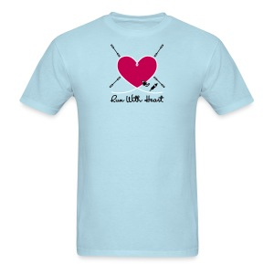 Run With Heart - Men's T-Shirt