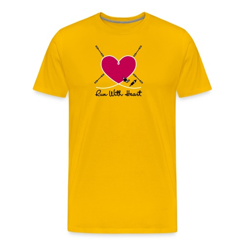 Run With Heart - Men's Premium T-Shirt
