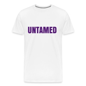 Men's Untamed [Purple Text] Tee - Men's Premium T-Shirt