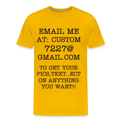 CUSTOM CLOTHES & ACCESORIES - Men's Premium T-Shirt